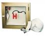 Cutie hidrant cu geam,cheder si suport rola furtun